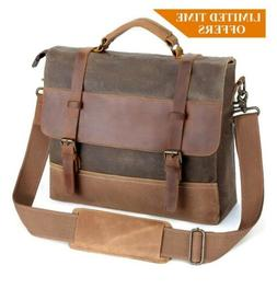 Mens Laptop Messenger Bags 14 Inch Tocode Water Resistant Le