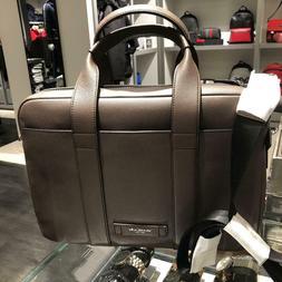 Michael Kors Mens Large Leather Briefcase Laptop Messenger B