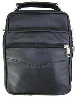 Mens Leather Cross body Messenger Shoulder Bag Satchel Small