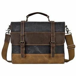 Kopack Mens Messenger Bag 15.6 Inch Waterproof Genuine Leath