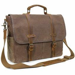 Lifewit Mens Messenger Bag 15 6 Inch Waterproof Vintage Genu