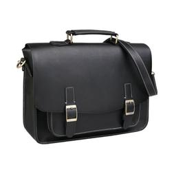 "Mens Messenger Bag Retro Leather 13-14"" Laptop Bag Waterproo"