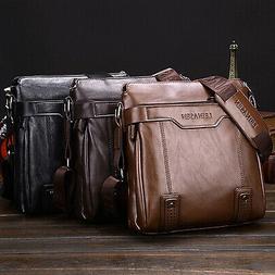 Mens Messenger Bag Leather Cross body Shoulder Bag Business