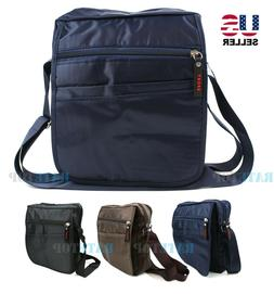 Mens Nylon Waterproof Crossbody Messenger Shoulder Bag Satch