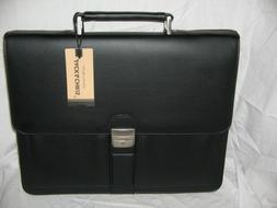 Jack&Chris Mens New PU Leather Briefcase Messenger Bag Lapto