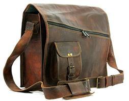 Mens satchel vintage leather messenger bag brown handmade sh