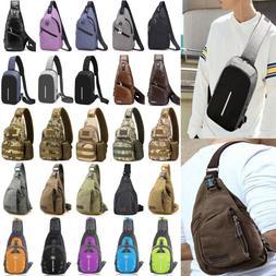 Mens Sling Bags Chest Pack Travel Backpack Messenger Shoulde