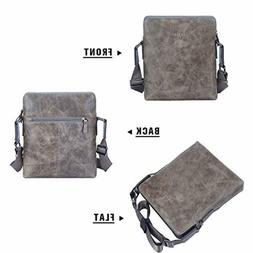 Banuce Mens Small Leather Messenger Bag 9.7 Inch iPad Busine