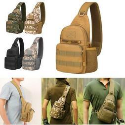 Mens Tactical Military Crossbody Shoulder Bag Chest Pack Cam