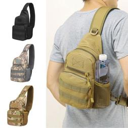 Mens Tactical Military Sling Chest Pack Messenger Shoulder C