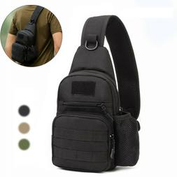 Mens Tactical Sling Chest Bag Assault Pack Messenger Shoulde