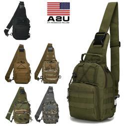 Mens Tactical Sling Chest Bag Molle Assault Backpack Messeng