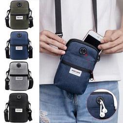 Mens Travel Messenger Bag Shoulder Bag Crossbody Handbag Sma