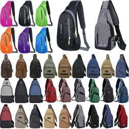 Mens Womens Crossbody Shoulder Bag Chest Sling Packs Outdoor
