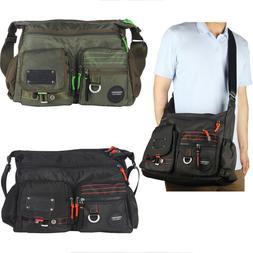 Mens Womens Large Messenger Bag School Bag Shoulder Bag Slin