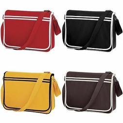 Bagbase Mens/Womens Retro Adjustable School Messenger/Should