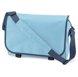 Bagbase Messenger Bag BG21 Sky Blue & French Navy shoulder S