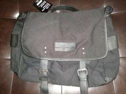 Kenneth Cole Reaction Messenger Bag Black Canvas X-Large Cro