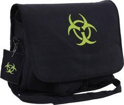 Rothco Messenger Bag - Vintage Canvas Bio-Hazard, Black