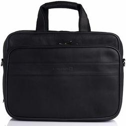 Alpine Swiss Messenger Bag Leather 15.6 Laptop Briefcase Por