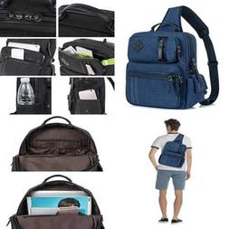 Leaper Messenger Bag Sling Outdoor Cross Body Shoulder Dark