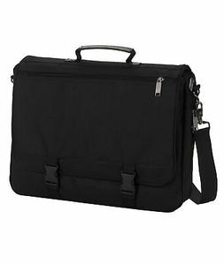 UltraClub Messenger Bag U1011 Classic Briefcase Black OS
