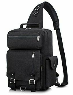 Leaper Messenger Bag Water-Resistant Sling Bag Cross Body Ba