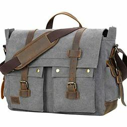Messenger Bag for Men, Kasqo Waterproof Faux Leather Shoulde
