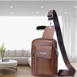 Messenger Crossbody Leather Shoulder Backpack Chest Bags Cas