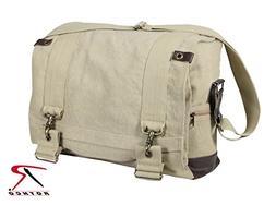 Military Vintage B-15 Pilot Messenger Shoulder Bag, Khaki