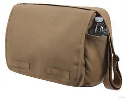 Mocha Heavyweight Canvas Classic Shoulder Messenger Bag