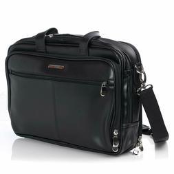 Alpine Swiss Monroe Leather Briefcase Top-Zip Laptop Messeng