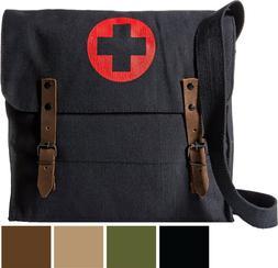 NATO Medic Canvas Military Bag Red Cross Vintage Shoulder Cr