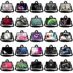 Neoprene Laptop Sleeve Case Messenger Bag Shoulder Strap Asu