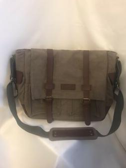 Sweetbriar New Canvas Laptop Messenger Bag Briefcase Olive G