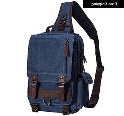 New Mygreen Canvas Messenger One Strap Unisex Backpack Body