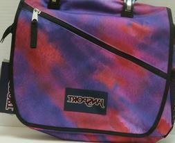 NEW Colorful Jansport Mowtown Messenger Bag Purple Sky/Multi