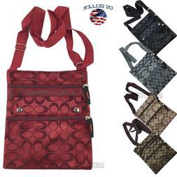 New Ladies Thin Flat Crossbody Purse Bag Wallet Travel Shoul