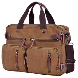 Dasein Men's Canvas Briefcase Large Shoulder Bag Messenger B