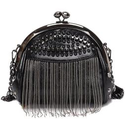 NEW-Retro Tassel Fashion Shell <font><b>Bag</b></font> New R