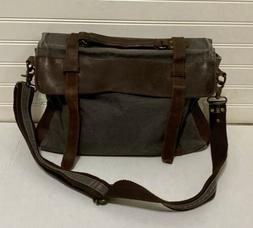New S-Zone Canvas & Leather Messenger Bag Briefcase Adjustab