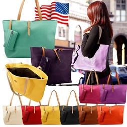 New Womens Faux Leather Fashion Messenger Handbag Lady Shoul