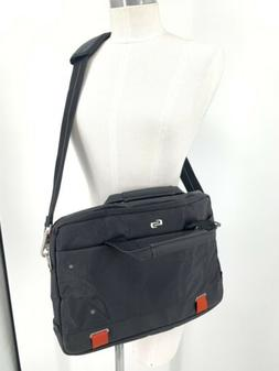 Solo New York Thompson Black Laptop Briefcase Messenger Bag
