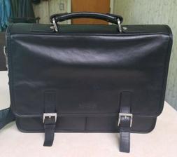NWOT Kenneth Cole Reaction Black Leather Messenger bag Brief