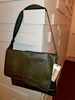 NWT Kenneth Cole Reaction Men's Black Pebbled Messenger Bag