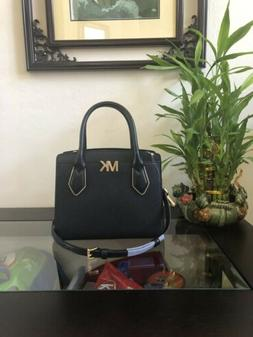 NWT MICHAEL KORS MONTGOMERY MEDIUM MESSENGER BAG IN Black