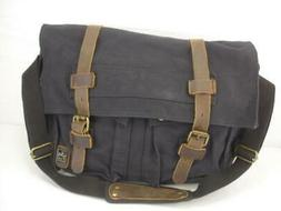 NWT Berchirly Vintage Military Canvas Leather Messenger Day