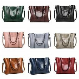 Oil Wax Leather Women Handbag Messenger Bags Tote Women's Sh