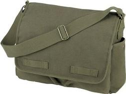 Olive Drab Heavyweight Classic Messenger Bag Military Should