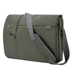 VanGoddy Olive Green Executive Anti-Theft Laptop Messenger B